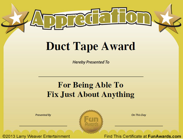 Funny Award Template  BesikEightyCo