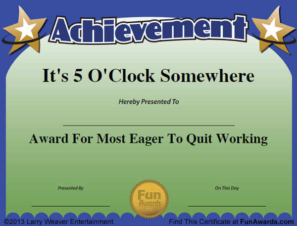 FunAwards.com Is Your Best Source For Funny Awards For Employees, Teachers,  Students, The Office, Kids, Sports   Whatever The Occasion!