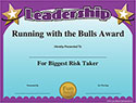 Running with the Bulls Leadership Award