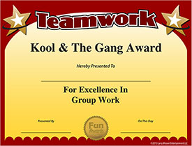 certificate of teamwork