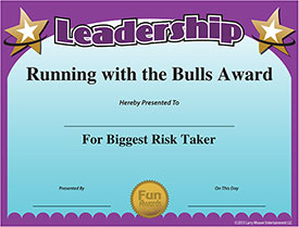 certificate of leadership