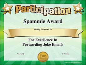 Spammie Award - Download Free Award