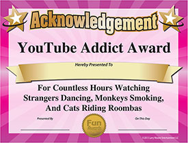 YouTube Award - Download Free Award