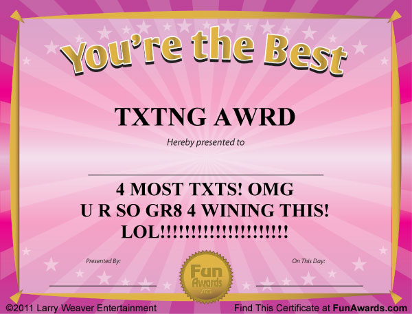 Funny Certificates to Give