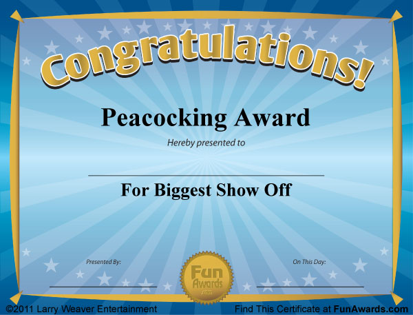 Funny Certificates - Funny Award Certificates to Give Family, Friends ...