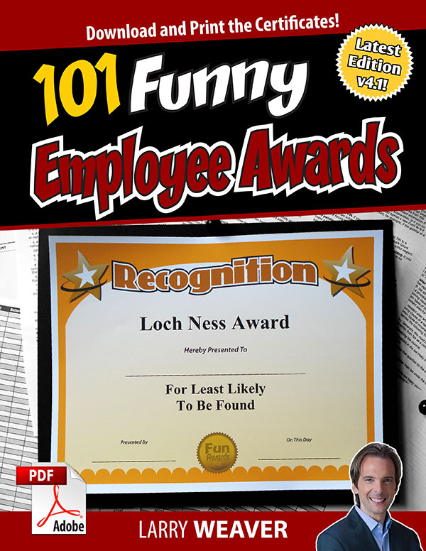 Funny Employee Awards  101 Funny Awards for Employees, Work, Staff