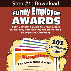 Download 101 Funny Employee Awards at