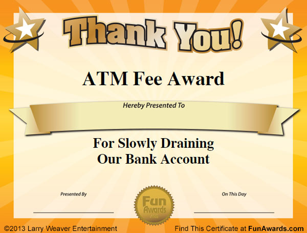 Funny Office Awards - 101 Printable Award Certificates for ...
