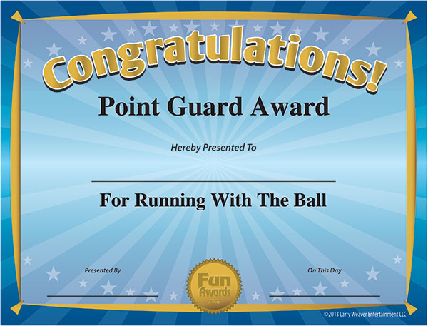 Funny Sports Awards - Free Printable Sports Award Certificates