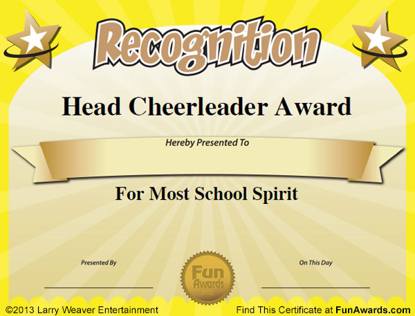 Funny sports awards certificates teacher award certificate templates