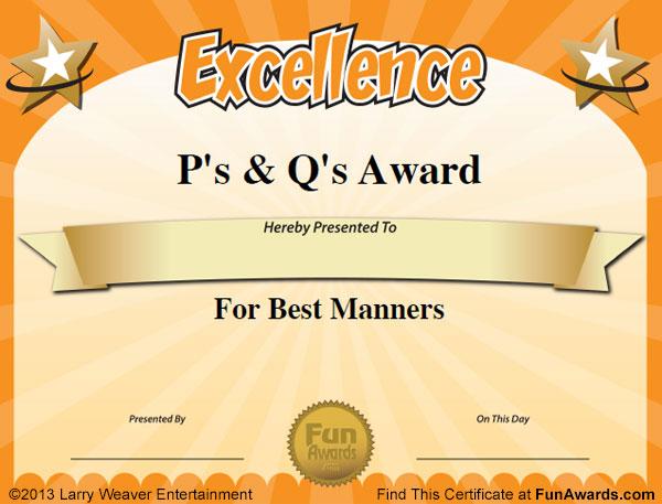 Sample Certificates: 101 in All PLUS 7 Award Templates!