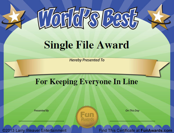 humorous awards ideas certificates funny award ideas