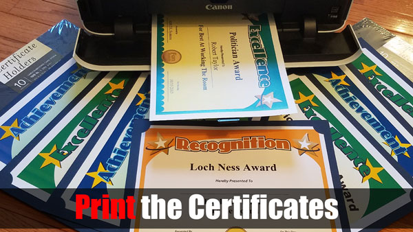 Print the Certificates