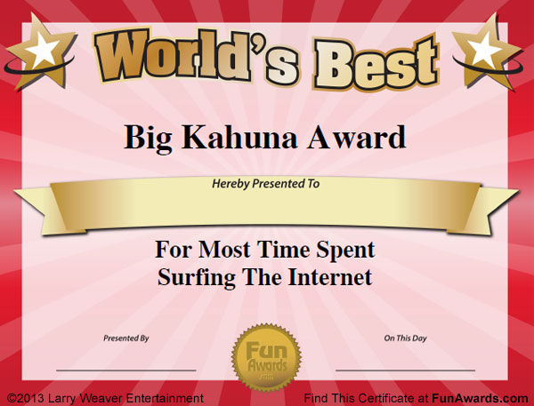 Funny office awards 101 printable award certificates for the office sample funny office awards 101 in all plus 6 certificate templates yadclub Choice Image