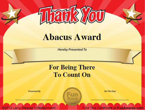 Funny teacher awards 101 printable certificates fun award ideas teacher teamwork award yadclub Image collections