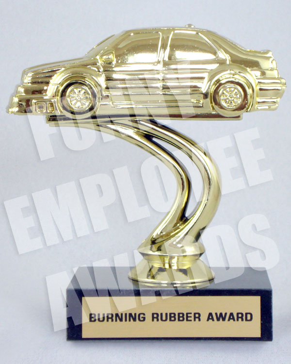 Burning Rubber Award Funny Racing Trophy Funny